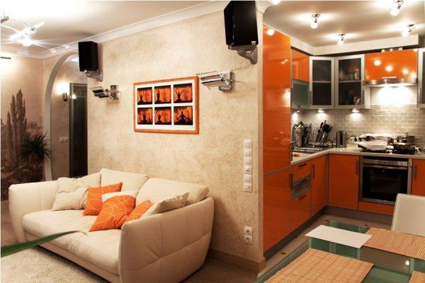 Гостиная совмещенная с кухней: 10 фото приемов. Все о совмещении зала и кухни в одной комнате!