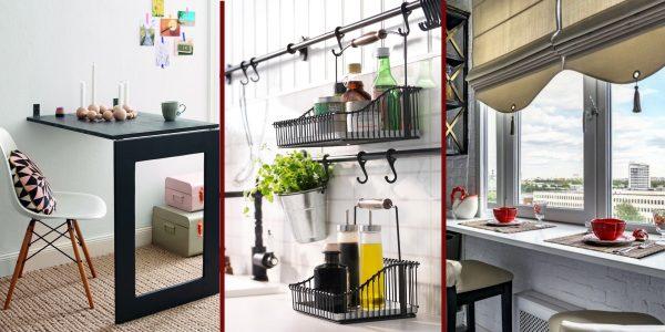 Советы, которые помогут обустроить маленькую кухню так, чтобы там осталось свободное место