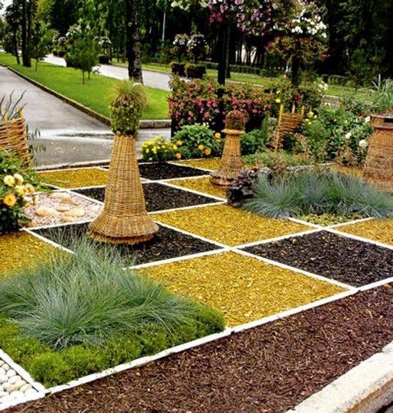 Использование цветного щебня в ландшафтном дизайне | Дизайн, Идеи, Дом