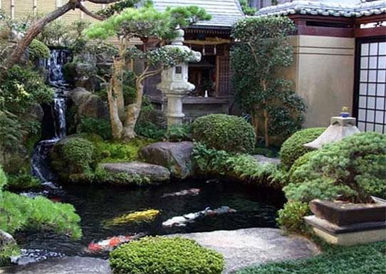 Садовые фонтаны, светильники и скульптуры по правилам фэн-шуй