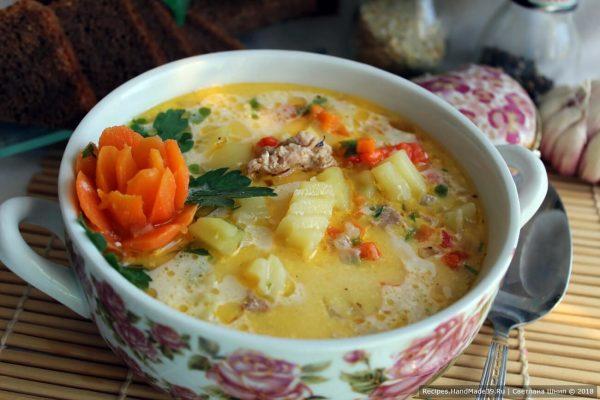 Чизбургер-суп с фаршем – Свежие Рецепты – кулинарный сайт