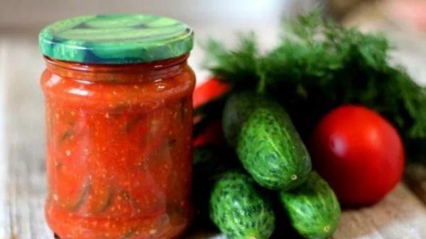 Огурцы в томатной заливке на зиму: обалденные рецепты со ...