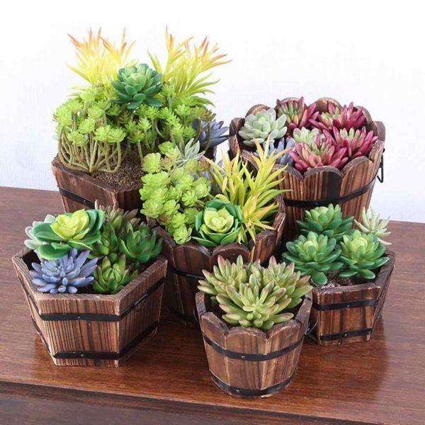 Ретро круглые деревянные цветочные горшки, бочки для растений, украшения для дома и сада на открытом воздухе| | - Алиэкспресс